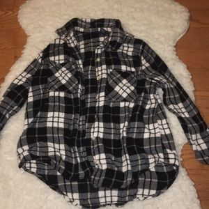Collared Button Down Flannel Long Sleeve